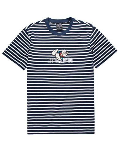 HUF x Popeye Skateboard T-Shirt Popeye Knit Top Navy Size L