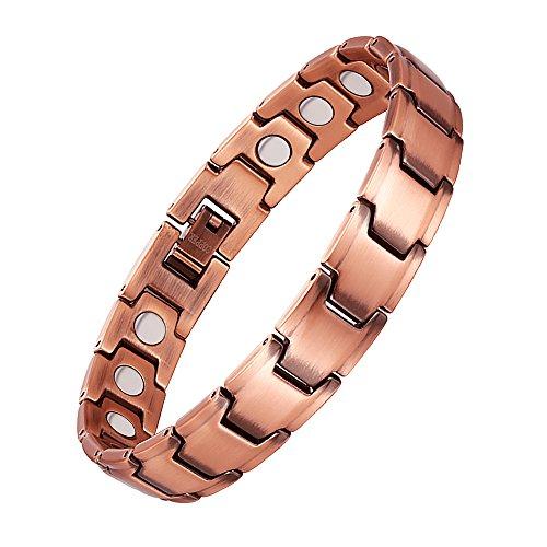 Jeracol Magnetarmband Magnetische Kupfer Armbänder Schmerzlinderung für Arthritis Karpaltunnel Magnetarmband Kupfer Herren Damen mit freiem Link Abbau Werkzeug und Elegante Geschenkbox.