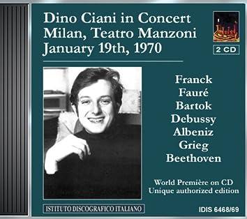 Ciani, Dino: Concert in Teatro Manzoni, Milan (19 January 1970)
