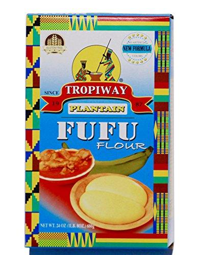 Tropiway Plantain Fufu Flour 3lbs/48 oz/1360g (2x1.5lb /24oz /680g )
