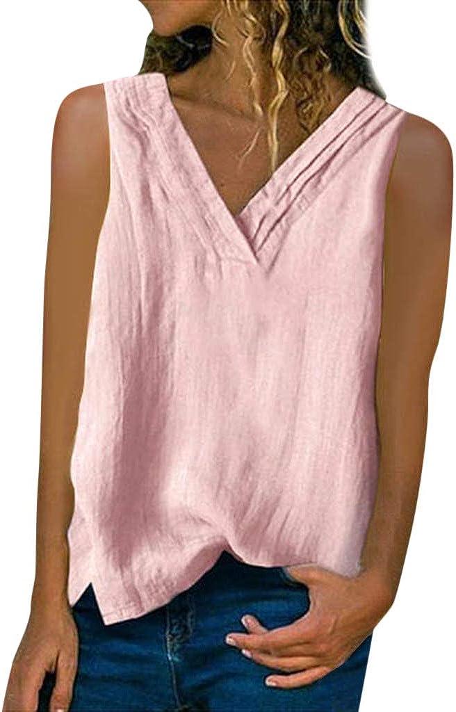 wholesale haoricu Ladies Vest T Shirt Short Linen T-Shirts Special price for a limited time Cotton Women's
