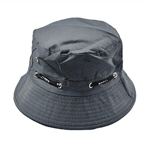 LOPILY Verano Sombrero de Sol Plegable Hombres Mujeres Unisex Algodón Cubo Sombrero Doble Lado...