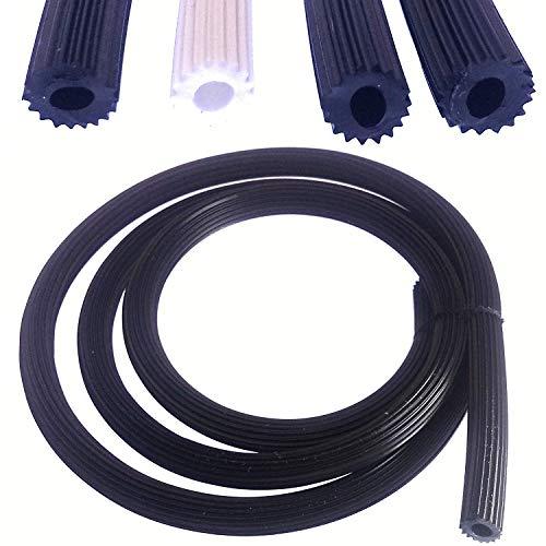 Cinta de refuerzo de PVC para mosquitera, 24 metros, color negro, diámetro de 4,2 mm, para mosquitera, accesorio de repuesto