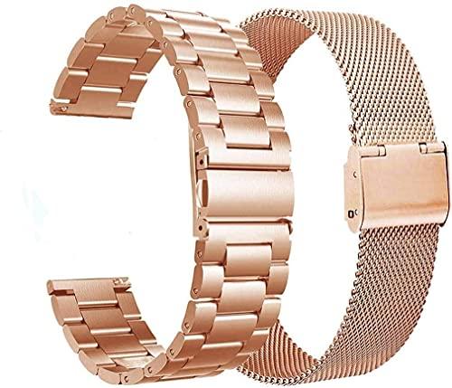 VIGOSS Kompatible Für Galaxy Watch 4 Straps /42mm/Active 2 40mm 44mm Armband Schwarz Metall Edelstahlarmband Männer Ersatz Armband Für Samsung Galaxy Watch 42mm/Active 2 40mm Smartwatch