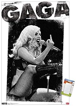 Trends International Lady Gaga - Finger Wall Poster 22.375  x 34  Premium Poster & Mount Bundle