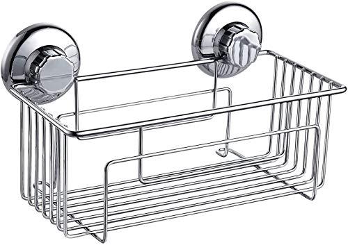 Estantes de baño para ducha, esquina con succión SUS304, acero inoxidable, organizador de ducha, cestas de almacenamiento para el hogar y la cocina, ventosa sin taladrar