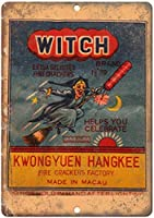 7月の魔女爆竹錫看板壁の装飾金属ポスターレトロプラーク警告看板オフィスカフェクラブバーの工芸品