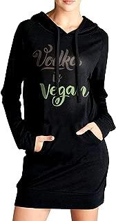 SWEA-QYD78 Vodka is Vegan - Vegetarian Women's Long Sleeve Outfitter Sweatshirt with Pocket Hoodies Dress