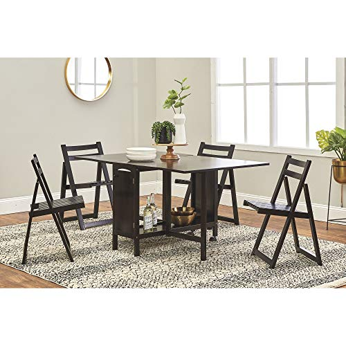 Kotula's 5-Pc. Space-Saving Dining Set - 1 Table and 4 Chairs, Black Finish