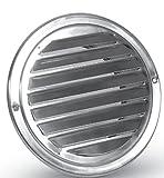 Láminas de acero inoxidable pulido con protección impermeable de ventilación DN 125 mm