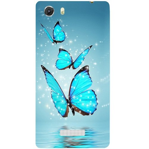 Casotec Flying Butterflies Design Hard Back Case Cover for Micromax Canvas Unite 3 Q372