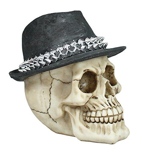 Decoratiefiguur doodshoofd met hoed en stekels schedel mystic Gothic fantasy decoratie