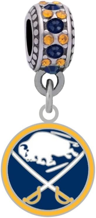 Buffalo Sabres sold out Charm Fits Compatible With Pandora Translated Style Bracelet