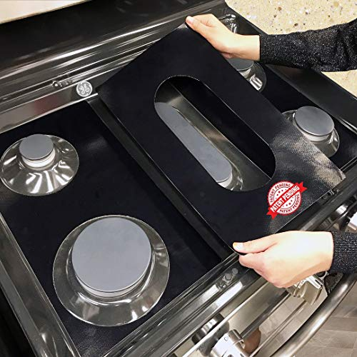 Stove Protector Liners Compatible with GE Stoves, GE Gas Ranges - Customized - Easy Cleaning Liners for GE Compatible Model JGB660EEJES