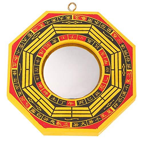 WICHENG 1 Set di 2pcs 4 Pollici Bagua Specchio Fengshui Convesso Specchio concavo Specchio Ciondolo Appeso Ornamento for Home Office (Colore : As Shown, Size : 11.5x11.5cm)