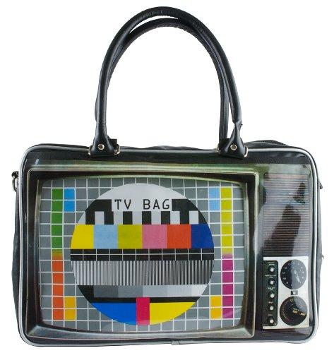 Wanted Sporttasche Weekend Bag TV M. Bilddruck Pu 27000 Liter Schwarz (Mehrfarbig) WA0539
