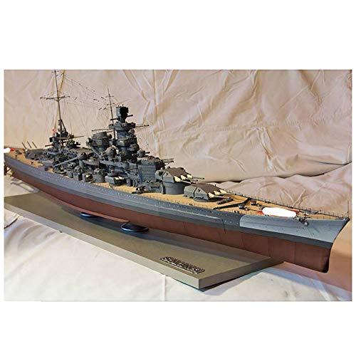 Lllunimon Scharnhorst-Klassenschlachtschiff Modell-Kit, Handwerker-Papierschiff-Modell-Gebäude-Kit handgefertigte Spielzeuggeschenk für Dekor