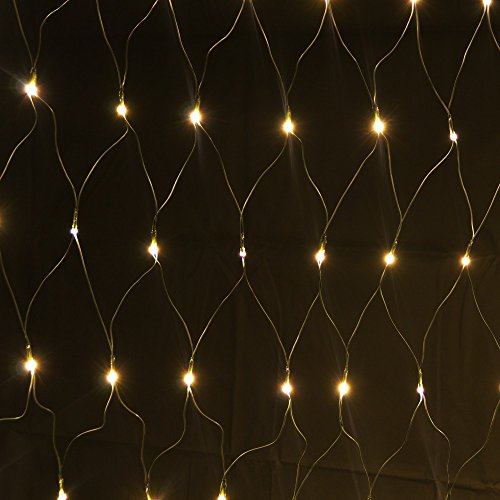 160er LED Lichternetz 1x2m Warmweiß, Indoor und Outdoor, Lichterkette Christbaumlichterkette Aussenbeleuchtung Innenbeleuchtung Partydeko Partybeleuchtung Lichterdeko Dekoration