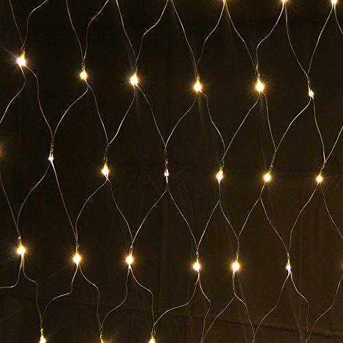 160er LED Lichternetz 1x2m Warmweiß, Indoor und Outdoor, Lichterkette Christbaumlichterkette Aussenbeleuchtung Innenbeleuchtung Partydeko Partybeleuchtung Lichterdeko Dekoration