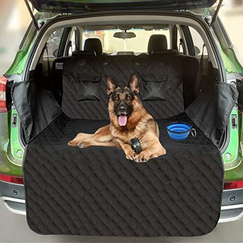Cadosoigh per Cani Protezione Bagagliaio Copertura - Universale Protezione della Fodera - Coprisedile Posteriore Antiscivolo Impermeabile - Lavabile Durevole per autoveicolo SUV (185 * 105cm Nero)