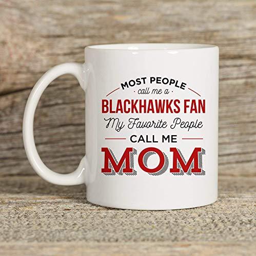 N\A Blackhawks Becher Becher für Mutter Chicago Becher Chicago Geschenk Kaffeebecher Kaffee Geschenk Tee Becher