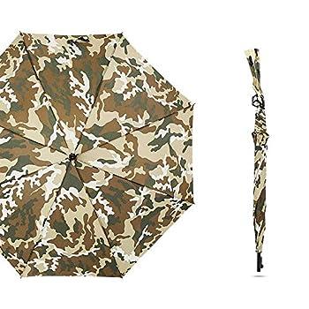 TcooLPE Parapluie de Golf Coupe-Vent Grand 48 Pouces, modèle de Fusil aéré et Coupe-Vent, Ouverture Automatique, surdimensionné, écran Solaire Anti-Pluie (Color : A)