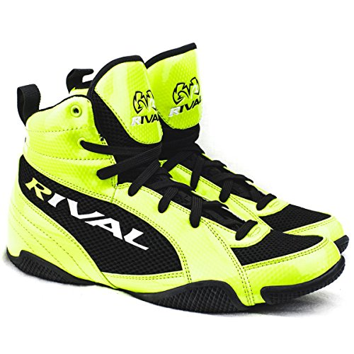 Rival Boxing lo-top Youth Guerrero stivali, Lime Green & Black