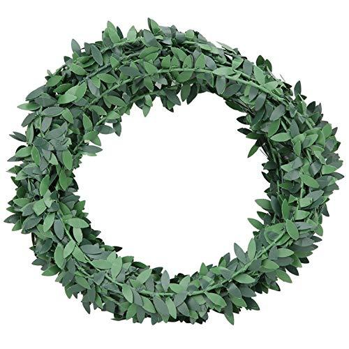 Roberee Green Leaf Garland -7.5m Artificial Ivy Garland Fake Green Leaf Vine for Wedding Party Decoration DIY Headband