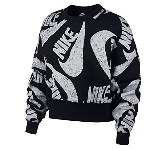 Nike Sportswear Icon Clash Fleece Felpa, Negro, XS Donna