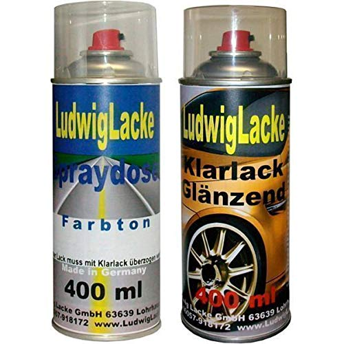 VW Candyweiss LB9A Spraydosen Set 400ml Autolack 400ml Klarlack