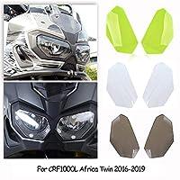 FATExpress オートバイ前面ヘッドライトレンズカバー ヘッドランプシールドガード保護 バイク部品 2016 2017 2018 2019 Honda ホンダ CRF1000L Africa Twin DCT 適合 (蛍光緑)