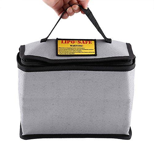 Batterij beschermhoes LiPo batterij opladen brandbeveiliging opbergtas met handvat 215 * 115 * 155 mm