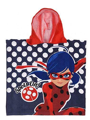 Theonoi badhanddoek, badjas met capuchon, poncho voor kinderen, katoen, naar keuze: Super Wings Paw Minnie Frozen Princess Ladybug Pony Barbie Peppa