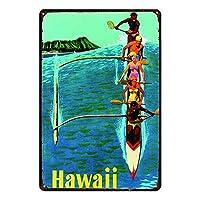 Hawaii 金属板ブリキ看板警告サイン注意サイン表示パネル情報サイン金属安全サイン