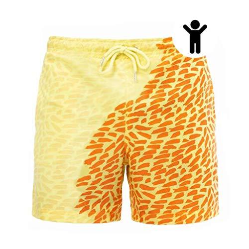 ELECTRI Enfant Maillot de Bain Homme à Couleurs Changeantes Pantalons de Plage à Changement de Couleur Sensibles à La Température Short De Bain Homme Short Plage pour Été
