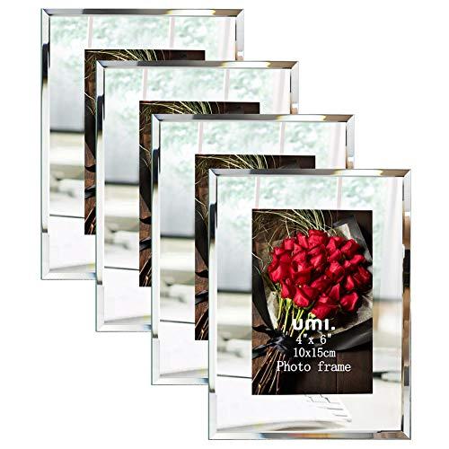 Amazon Brand - Umi 4 Stück 10x15 cm Bilderrahmen ideal für Familienfotos Babyfotos und Hochzeitsfotos