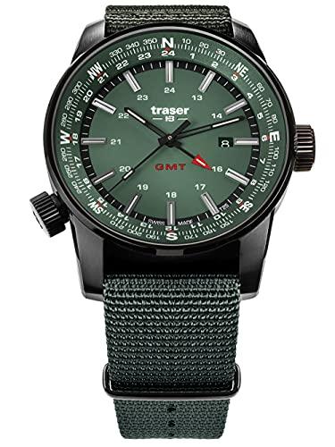 traser H3 Herrenuhr Pathfinder GMT Grün 109035