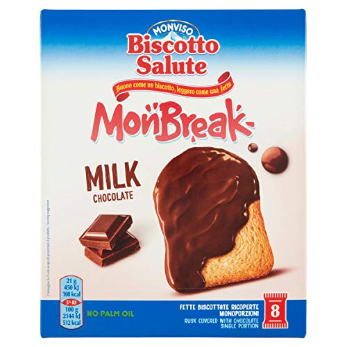 Monviso Biscotto Salute Monbreak Milk Chocolate, 168g