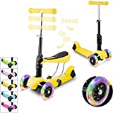 WeSkate Mini Scooter for Kids, Lights Up Scooters for Toddlers Girls & Boys, Removable Seat & Adjustable Height, Design for Children Ages 2-8