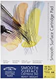 Winsor&Newton - Blocco Carta Satinata, Grana Liscia Incollato - 220 Gr - A4 - 25 Fogli