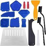 15 herramientas de calafateo YuCool, herramienta de acabado selladora para suavizar líneas de sellado, líneas de calafateo, color azul