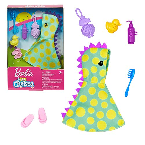 Barbie. GHV61 - Chelsea Mode, Kleid, Kleidung Set Badezeit, Bademantel, Schuhe, Ente, Zubehör Chelsea