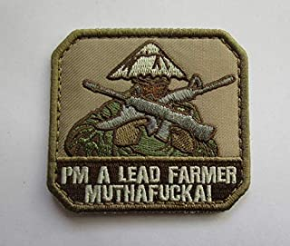 I'm A Lead Farmer MUTHAFCKA Military Patch Fabric Embroidered Badges Patch Tactical Stickers for Clothes with Hook & Loop