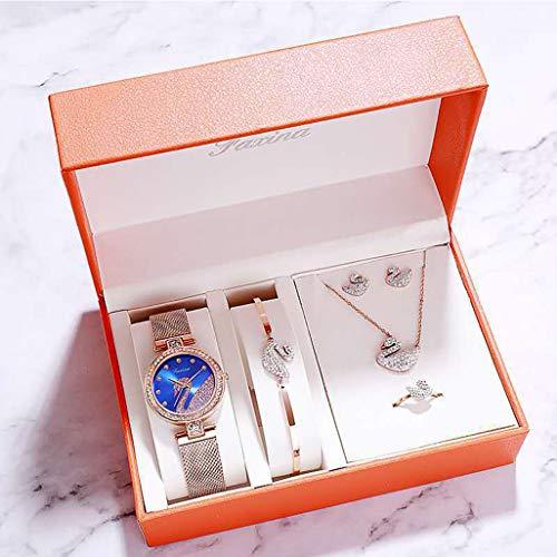 PIANAI 2021 nuevos Accesorios para Damas Relojes para Damas Juego de Relojes creativos Simples Regalos del día de la Madre Relojes para Mujeres Relojes para Mujeres,D