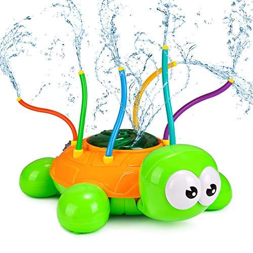 joylink Wassersprinkler für Kinder, Schildkröte Wassersprühspielzeug mit 6 Schlauch Kreativ Sprinkler Kinder Spielzeug, Rotations Wasser Sprinkler Spielzeug für Garten Rasen Sommer Outdoor