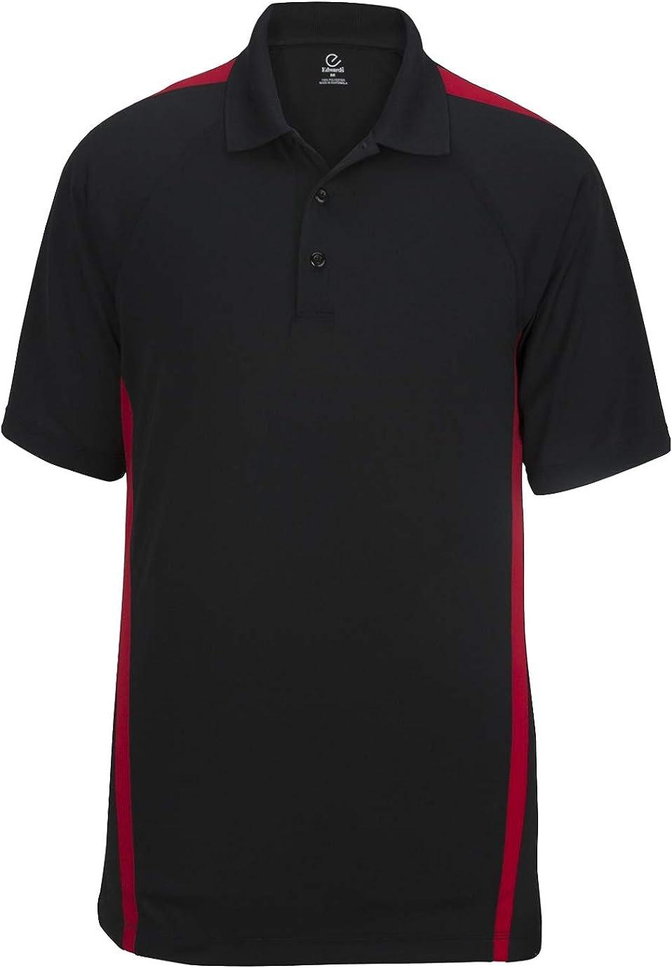 Edwards Men's Snag-Proof Color Block Short Sleeve Polo