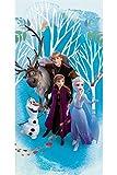 Uni que Serviette de Bain Drap de Plage Disney Frozen La Reine des Neiges 2 70 x 140 cm Anna Elsa Olaf Kristoff Sven 100% Coton