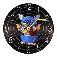 掛け時計 木製 グレムリン ギズモ ウォールクロック 壁掛け時計 アナログ おしゃれ 装飾 北欧 連続秒針 静音 壁掛け時計 掛時計 モダン インテリア 大数字 見やすい 電池式 自宅 寝室 部屋飾り 贈り物 直径25/30cm プレゼント レトロなスタイル