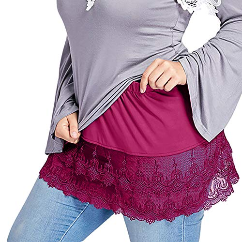 Nueva Minifalda para Camisa con Capas Falsas,Mujere Denim Falso Dobladillo en Capas...