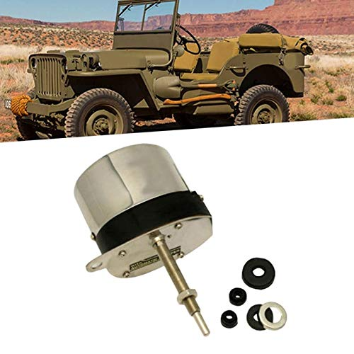 Stainless Steel Wiper Motor Kit with Universal Hot Rod for Chevy Jeep Wiper Motors